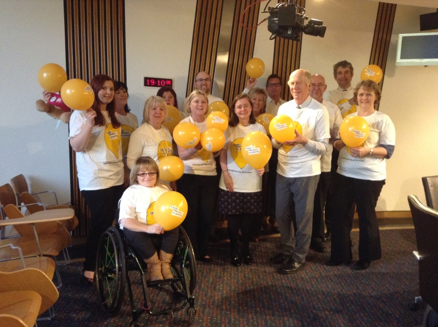 The Cross Party Group on Rare Diseases marking the 'No Party' birthday of the CF Trust.