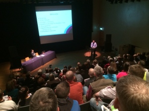 Well over 100 people from all over Scotland attended the patient conference.