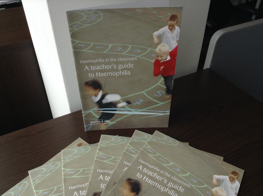 A teacher's guide to Haemophilia: Haemophilia in the classroom is produced by Baxter and includes a detachable poster and a cut out and keep contact sheet for schools.