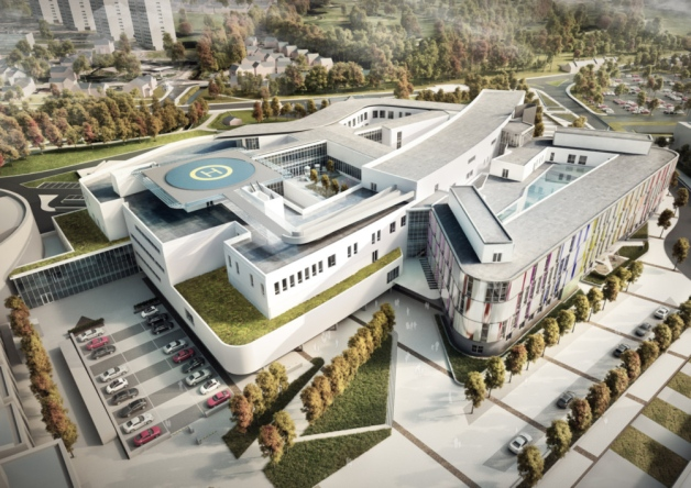 This is what the new Edinburgh Sick Kids will look like.