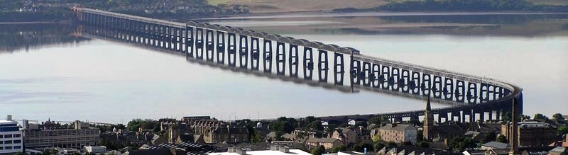 The Tay Bridge isn't far from the Haemophilia Centre