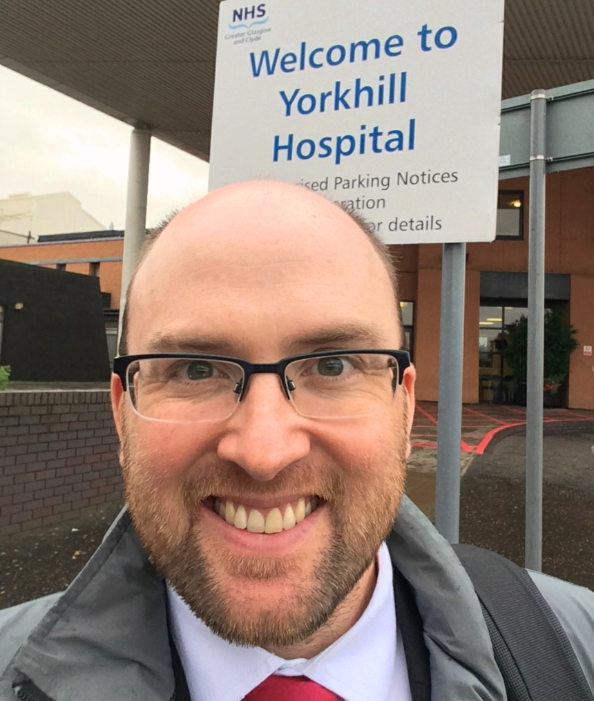 Dan finding out first hand about how the Haemophilia Unit at Yorkhill is developing their services for people with bleeding disorders.