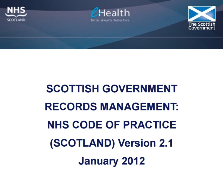 NHS Scotland Medical Records Code of Practice